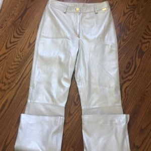 St. John Sport by Marie Gray Leather Pant 6
